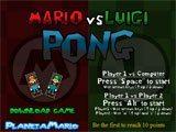 Juegos de Mario Bros: Mario vs Luigi Pong  - Juegos de Mario Bros