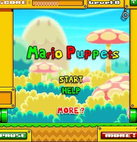 Juego de Mario Bros: Mario puppets  - Juegos de Mario Bros