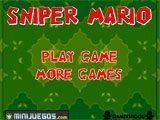 Juegos de Mario Bros: Sniper Mario  - Juegos de Mario Bros
